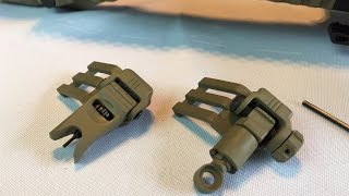 getlinkyoutube.com-Tactical foldable 45 degree offset back up iron sights BUIS by TAC Junction