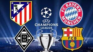 Champions League Atletico Madrid 1:0 Bayern München Gladbach 1:2 Barcelona