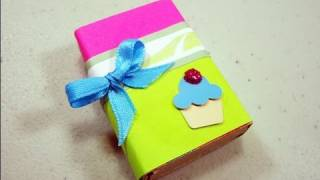 getlinkyoutube.com-How to make a gift box from a matchbox - EP - simplekidscrafts