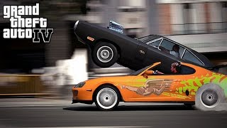 getlinkyoutube.com-Fast and Furious 1970 Dodge Charger vs Toyota Supra No Music = Epic Car Sounds GamePlay