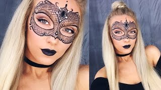 getlinkyoutube.com-MASQUERADE MASK MAKEUP! | HALLOWEEN TUTORIAL