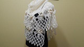 getlinkyoutube.com-Flor # 14 Horquilla para Chal  Crochet