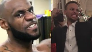 Stephen Curry, Kyrie Irving Mock LeBron's Workout Videos!