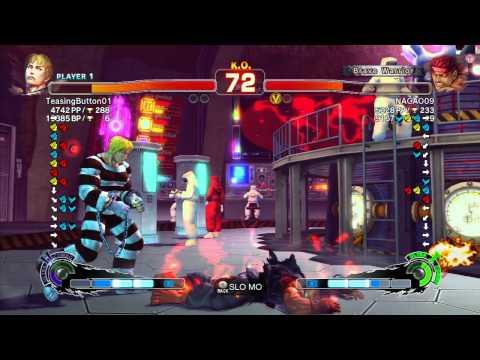 SSF4 AE 2012: TeasingButton01 (Cody) vs Nagao (Evil Ryu) - Xbox Live Ranked Match