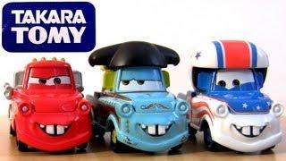 getlinkyoutube.com-Tomica 3-Pack Rescue Squad Mater CARS TOONS Mater the Greater - El Materdor Disney Pixar Takara Tomy