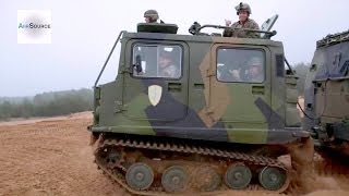 getlinkyoutube.com-US Marines FUN RIDE - Latvian Bandvagn 206 Tracked Carrier
