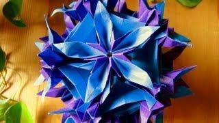 getlinkyoutube.com-Origami ✿ Spides floral ✿ Kusudama