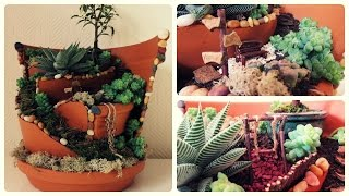 getlinkyoutube.com-Fairy Garden #1 * DIY * Minigarten im Topf [eng sub]