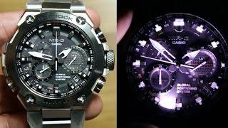 getlinkyoutube.com-Casio G-shock MRG-G1000D-1A *Sapphire Crystal, Titanium & GPS HYBRID