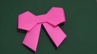 getlinkyoutube.com-「リボン」折り紙How to make a ribbon.