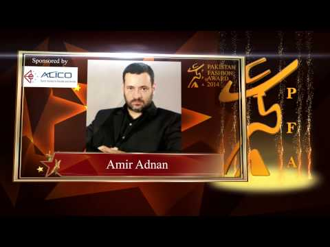 Pakistan Fashion Awards Menswear Designer of the Year 2014