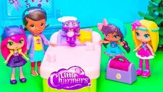getlinkyoutube.com-LITTLE CHARMERS Nickelodeon Little Charmers are Sick + Doc McStuffins Little Charmers Parody
