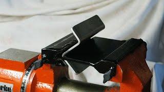 getlinkyoutube.com-Homemade tools vice mounted Press Brake metal bender