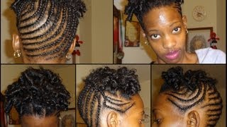 getlinkyoutube.com-Curly Braided Updo On Natural Short Hair .