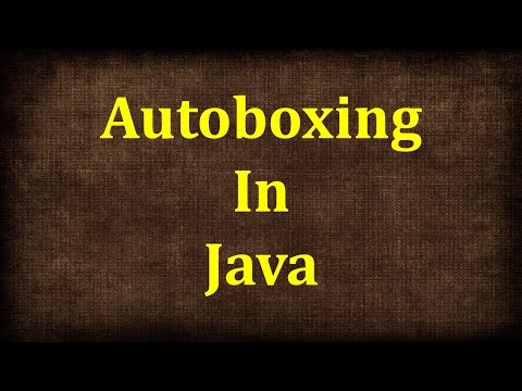 Autoboxing in java | Java tutorials by java9s