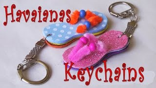 getlinkyoutube.com-DIY crafts: How to make Havaianas key chain Ana | DIY Crafts.