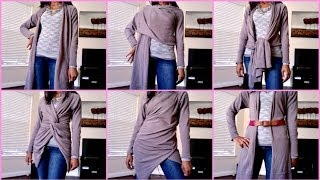 getlinkyoutube.com-How To Wear A Wrap Sweater - 9 looks