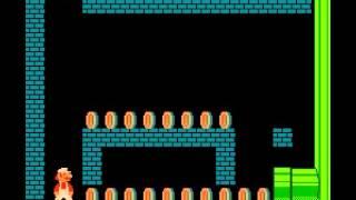 getlinkyoutube.com-Super Mario Bros 1 nes long run no warps many secrets
