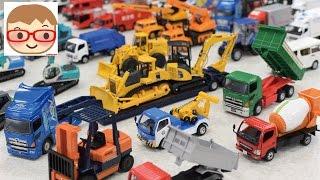 getlinkyoutube.com-はたらくくるまのおもちゃ ダイヤペット ブーブー のりもの 重機 ショベルカー,ユンボ,ミキサー車,レッカー車,ダンプ,ゴミ収集車,バックホー