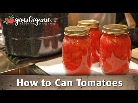 How To Can Organic Tomatoes At Home