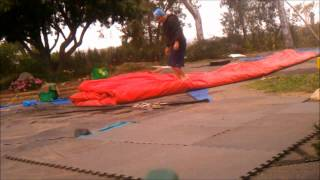 getlinkyoutube.com-Learn How To Roll Up A Giant Inflatables - Water Slide, Bounce House, Moonwalk, Obstacle Course