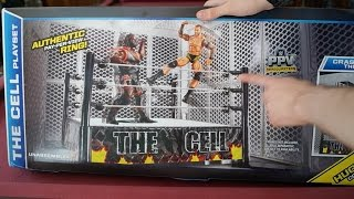 getlinkyoutube.com-WWE The Cell Playset Ring Toys R Us Exclusive Unboxing, Construction & Review!!