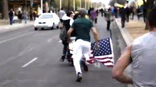 getlinkyoutube.com-Enraged Marine Rescues Flag But Misses The Point [VIDEO]