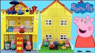 getlinkyoutube.com-Nick Jr. Peppa Pig Family House DUPLO Lego Construction Set George Shopkins Happy Places Toys / TUYC