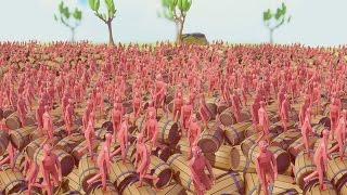 getlinkyoutube.com-1,000,000 EXPLOSIVE FUEL BARRELS BLOW UP AT ONCE! (Totally Accurate Battle Simulator)