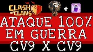 getlinkyoutube.com-Clash of Clans | Como Atacar em Guerra com CV9 | 3 estrelas | 100% INFALÍVEL