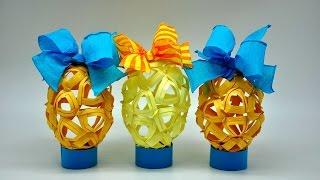 getlinkyoutube.com-Pisanka z papieru . Egg crafts DIY