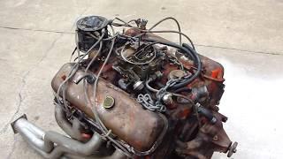CHEVY 454 ENGINE START UP ON GROUND * HOT RATROD ENGINE  * TEST RUN * REDNECK ENGINEERING