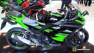 getlinkyoutube.com-2016 Kawasaki Ninja 300 ABS - Walkaround - 2015 Salon de la Moto Paris