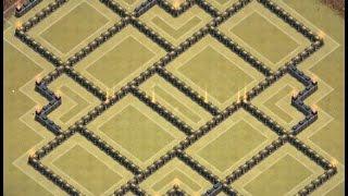 getlinkyoutube.com-Clash Of Clans - TH 10 Hybrid/Farming Base - 275 Walls