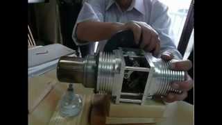 getlinkyoutube.com-FLAT STIRLING ENGINE 水平対向 スターリングエンジン
