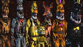 getlinkyoutube.com-Five Nights at Freddy's 4 All Animatronics | Secret Nightmare Animatronic