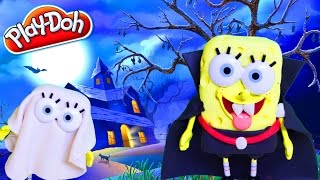 getlinkyoutube.com-Play Doh Halloween SpongeBob Ghost Halloween Costume Disfraz DIY Play Doh Halloween Costume