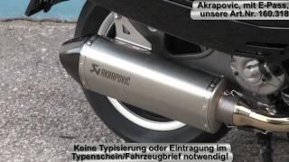 getlinkyoutube.com-Rennauspuff Akrapovic auf Vespa GTS 300