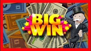 getlinkyoutube.com-Monopoly Up Up And Away Slot Machine Bonus - Big Win