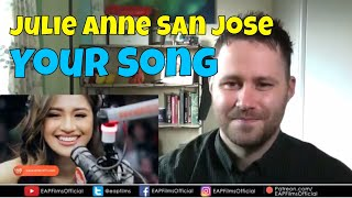 Julie Anne San Jose - Your Song (Parokya Ni Edgar) - Wish 107.5   REACTION