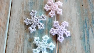 getlinkyoutube.com-How to Crochet a Mini Snowflake