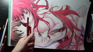 getlinkyoutube.com-Drawing Rias and Issei From High School DxD HD