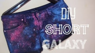 getlinkyoutube.com-DIY | SHORT ESTILO GALAXY ★
