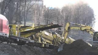 getlinkyoutube.com-Sanierung Bahnstrecke   mit Plasser & Theurer Bettungsreinigungsmaschinen  März 2015 Teil 5/6