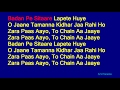 Badan Pe Sitaare Lapete Huye - Mohammed Rafi Hindi Full Karaoke with Lyrics