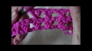 getlinkyoutube.com-Crochet crossed double crochet dishcloth