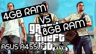 getlinkyoutube.com-4GB RAM vs 8GB RAM - GTA V TEST ASUS A455L With i5 5200u + Nvidia GT930m