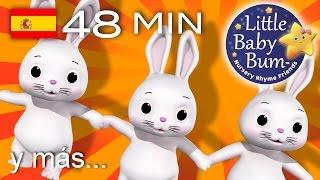 Los conejitos dormilones | Y muchas más canciones infantiles | ¡LittleBabyBum!