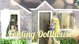 getlinkyoutube.com-DIY - How to Make: Folding Dollhouse - Handmade - Doll - Crafts