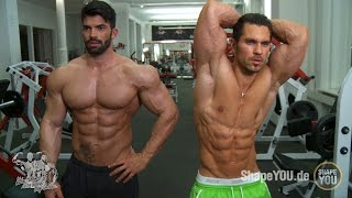 getlinkyoutube.com-Sergi Constance and Alon Gabbay - Chest Shoulders Workout #BeLEGEND